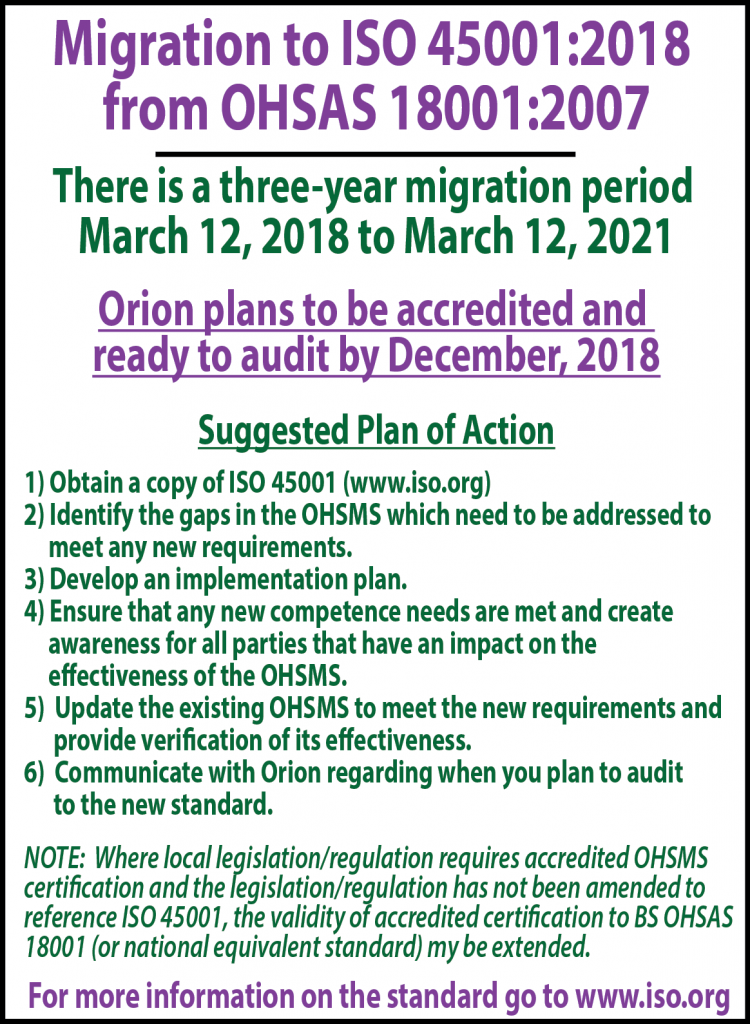 Article Update 2018 Migration to ISO 45001